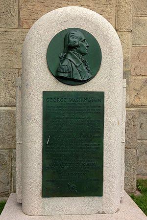 Jeremiah Wadsworth - Tablet dedicated to George Washington and honoring Jeremiah Wadsworth