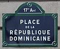Plaque place République Dominicaine Paris 2.jpg