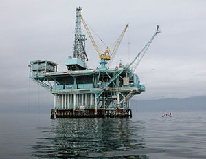 1969 Santa Barbara oil spill - Platform A in 2006