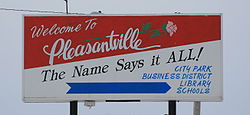 Pleasantville Iowa 20080111 Sign.JPG