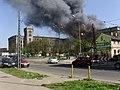 Pożar magazynów zakladowych Lenta - panoramio.jpg