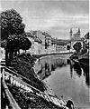 Pogled s Hradeckega proti Frančiškanskemu mostu 1928.jpg