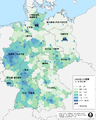Pop density of Germany-zh-hant.png