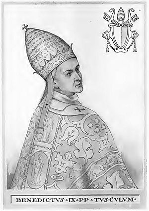 Tusculan Papacy - Image: Pope Benedict IX Illustration