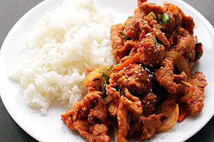 Bulgogi - Dwaeji-bulgogi (pork bulgogi) with rice