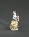Porslin. Figurin - flicka med säckpipa - Hallwylska museet - 89294.tif