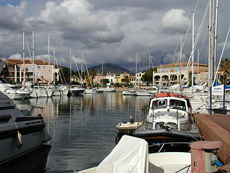 Cogolin - A view of the harbour of Cogolin