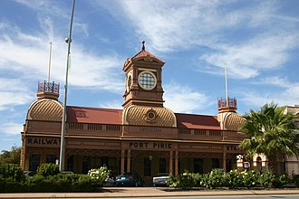 Port Pirie - The former Ellen Street railway station now a museum