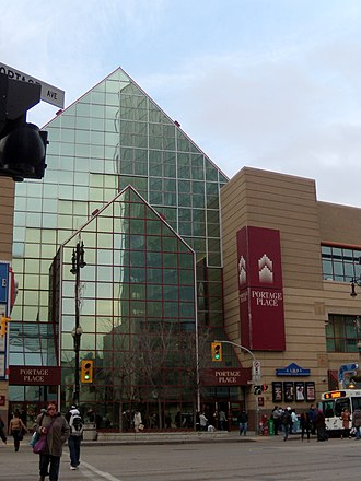 Portage Place - Portage Place mall on Portage Avenue in Winnipeg, Manitoba