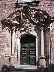 Doorway of the Jesuit college, Heiligenstadt.
