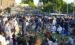 2017 Portland train attack - Vigil on May 27