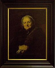 Portrait of museum benefactress C.M. van der Goot-Mabé Grevingh