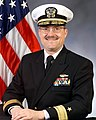 Portrait of US Navy Rear Admiral (lower half) Stephen E. Johnson.jpg