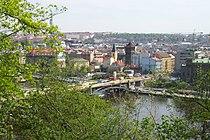 Praha, Holešovice, rekonstrukce Štefánikova mostu.JPG