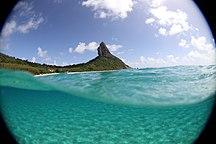 Ilha de Fernando de Noronha-Tourism-Praia da Conceição vista da Praia do Cachorro