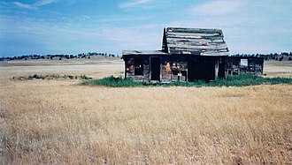 Black Hills - Abandoned cabin near Dewey in the southern Black Hills