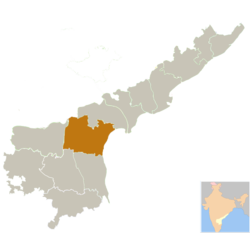 Location of Prakasam district in Andhra Pradesh