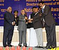 Pranab Mukherjee presented the 'National Safety Awards (Mines) for the year 2008, 2009 & 2010', at a function, in New Delhi. The Union Minister for Labour and Employment (2).jpg