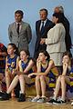 Premier Donald Tusk i Robert Korzeniowski jako widzowie rozgrywek młodych sportowców (6166016183).jpg