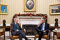 President Barack Obama meets with Senate Minority Leader Mitch McConnell, R-Ky. in the Oval Office, Dec. 3, 2014.jpg