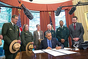 Waco Mammoth National Monument - President Barack Obama signs National Monument designations.