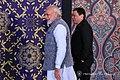 President Rodrigo Roa Duterte is welcomed by India Prime Minister Narendra Modi prior to the start of the releasing of the ASEAN-India Commemorative Stamp in New Delhi.jpg