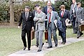 President Ronald Reagan Walking at C9 During Departure Via Marine One for Trip to California.jpg