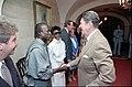 President Ronald Reagan greeting Miles Davis and Cicely Tyson.jpg