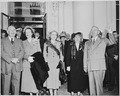 President and Mrs. Harry S. Truman, Vice President-elect Alben W. Barkley and Mrs. Max Truitt, and Margaret Truman... - NARA - 199951.tif