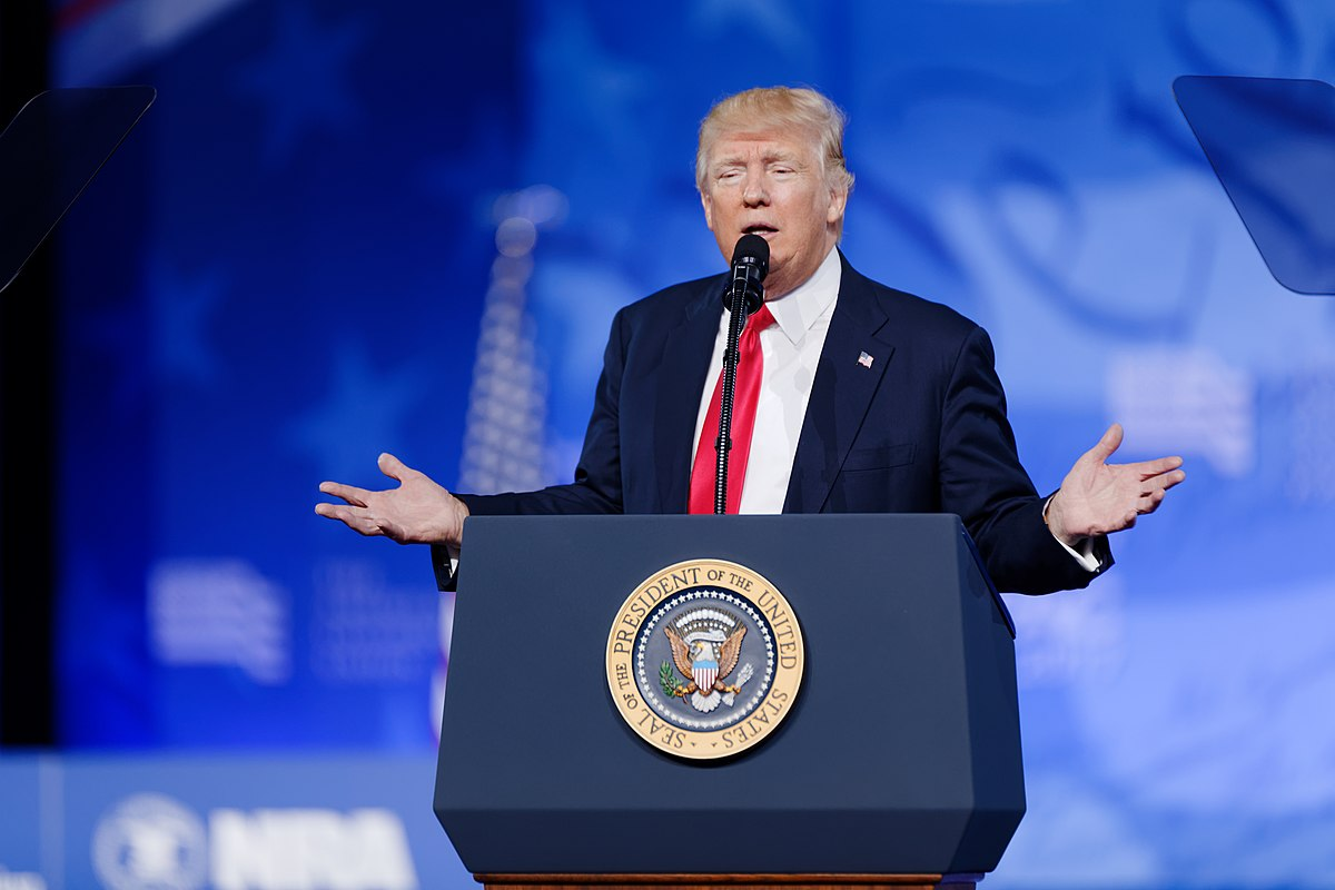 File:President of the United States Donald J. Trump at CPAC 2017 February 24th 2017 by, Michael ...