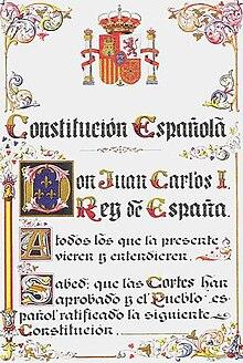 Constitution Espagnole De 1978 Wikipédia