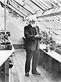 Professor dr Hugo de Vries in een plantenkas in Lunteren, Bestanddeelnr 252-0556.jpg