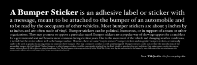 Proposed eponymous bumper sticker for Wikipedia - black background.png