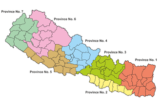Nepalese Federal States - Image: Provinces of Nepal 2015