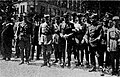 Przed defiladą, gen. J. Dowbor-Muśnicki, gen. A. Unrug, gen. J. Wroczyński, gen. I. Wierzejewski, W. Korfanty, J. Poszwiński.jpg