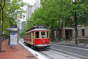 English: Portland Vintage Trolley car 512, a r...