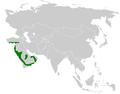 Pycnonotus xanthopygos distribution map.png