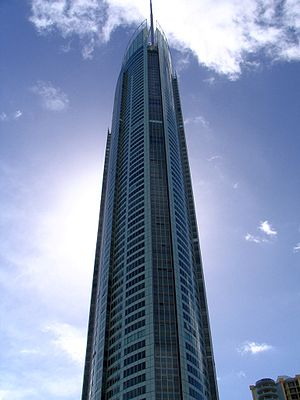 2005 in architecture -  Q1, in Gold Coast, Australia, when completed was the world's tallest residential building and the tallest building in Australia