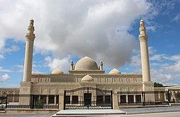 Qoşa minarəli məscid. Şamaxı şəhəri.JPG
