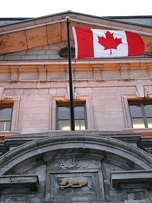 Canadian Flag in Quebec City