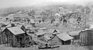 North Brisbane Burial Ground - Looking across the former Paddington Cemetery, circa 1870