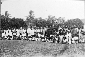 Torres Strait Islanders - Image: Queensland State Archives 5750 Villagers with Hon J C Peterson and party Poid Torres Strait Island June 1931