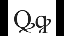 Q with diagonal stroke