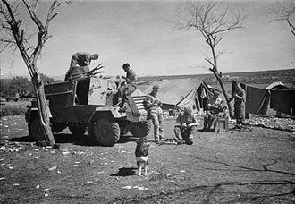 RAF Regiment - RAF Regiment Otter at Prkos Airfield in Yugoslavia 1945