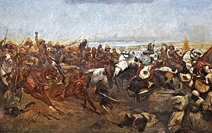 Woodville's The Charge of the 21st Lancers at the Battle of Omdurman, 2 September 1898; 1898.[134]