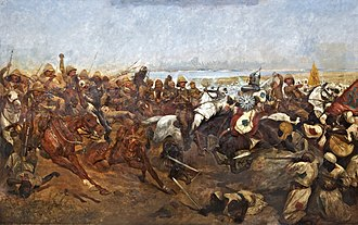 "Battle of Omdurman - ""The Charge of the 21st Lancers at Omdurman"", by Richard C. Woodville"