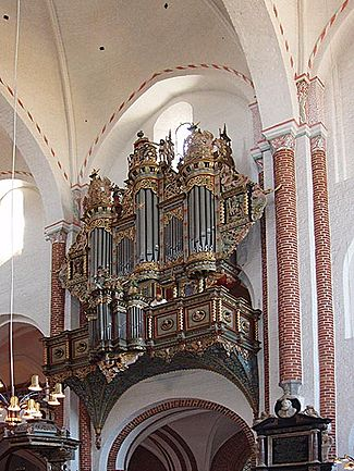 The organ in Roskilde Cathedral