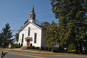 East Amwell Township, New Jersey - Old Presbyterian church in Reaville Historic District