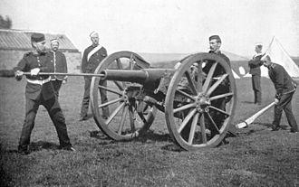 1st Staffordshire Artillery Volunteers - Image: RML16pdr 12cwt Shropshire&Staffs Volunteers 1897