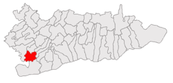Location of Radovanu, Călăraşi